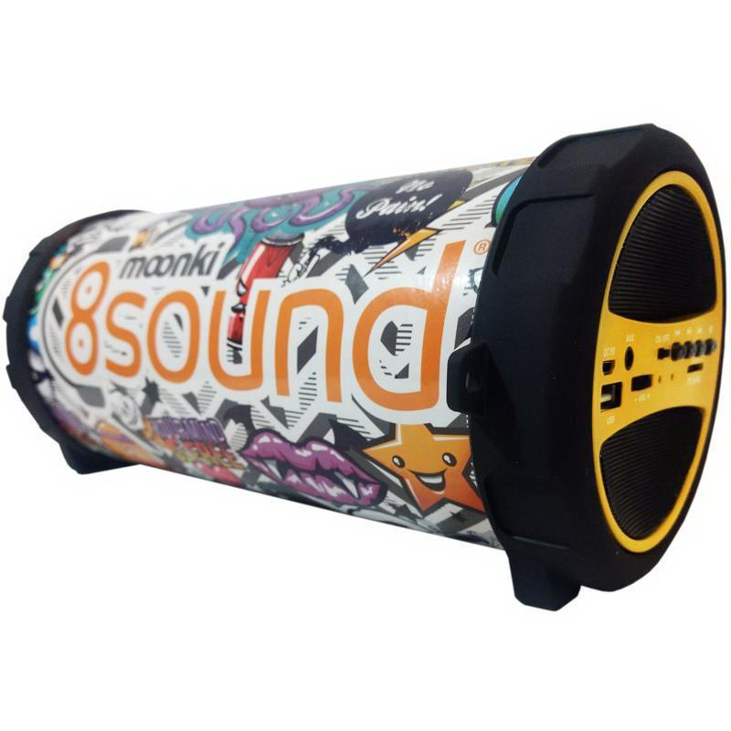 Parlante Portátil Moonki 8 Sound MI-C63BT Amarillo