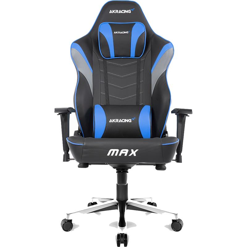 Silla Gamer AK Racing MAX Negra y Azul