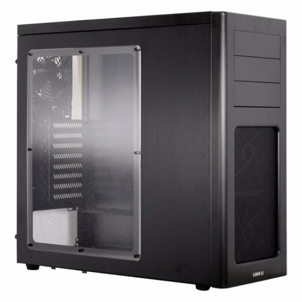 Gabinete Lian Li PC-07WX Negro Mid-Tower Aluminio Sin Fuente