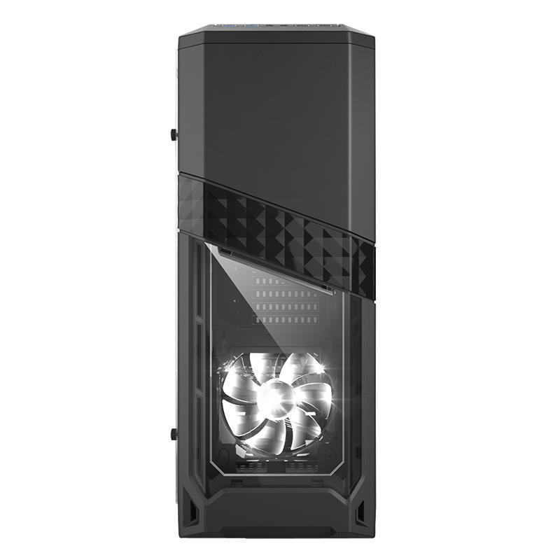 Gabinete Gamer  Mid-Tower AZZA TITAN 240 Negro Vidrio Templado Sin Fuente