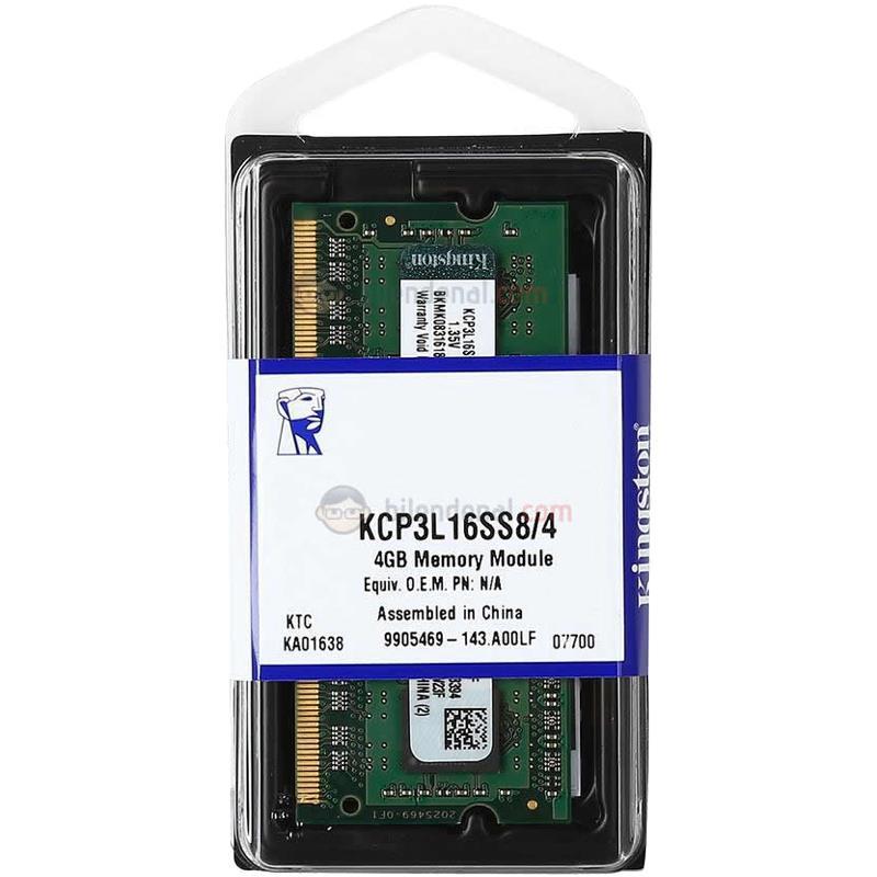 Memoria Sodimm DDR3 4GB 1600 MHZ Kingston Value