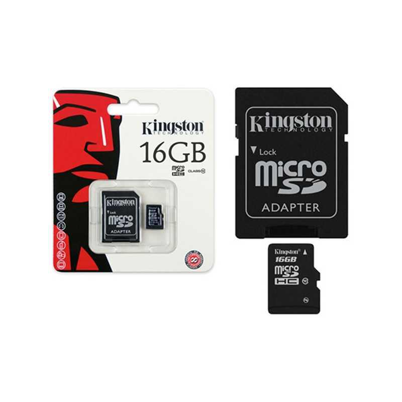 MicroSDHC Kingston Canvas Select 16GB Adap Clase 10