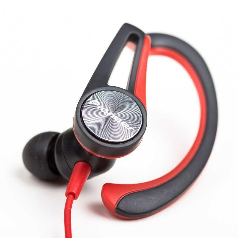 Auricular Deportivo Hook Ear Bluetooth Pioneer SE-E7BT Negro/Rojo